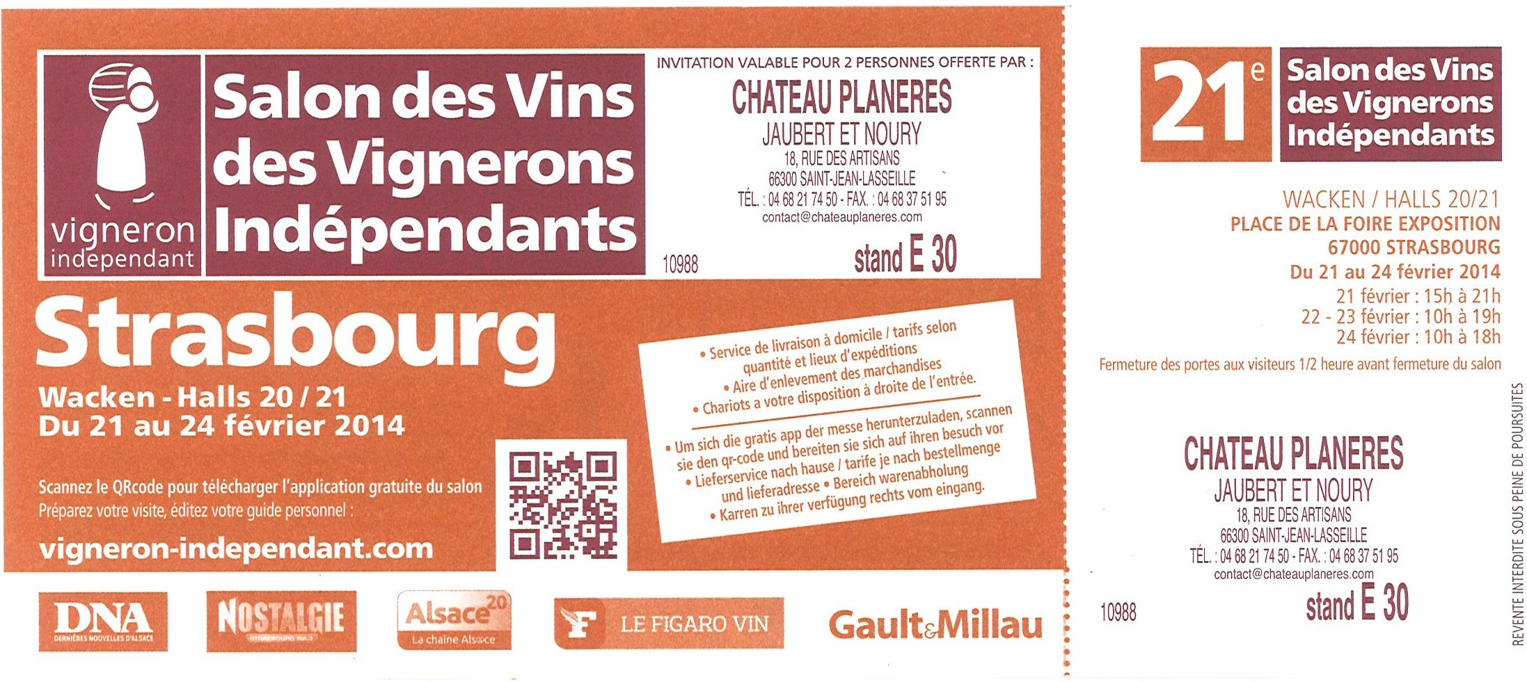 Ch teau plan res salon des vins des vignerons for Salon des vins independants